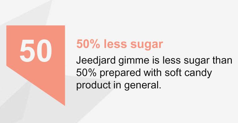 50% Less Sugar